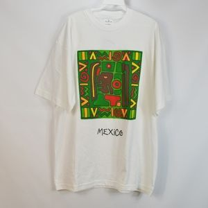 90s Mexico New Mens Medium Mayan Print T Shirt